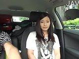 ScreenShot asian babe gives handjob in a car 6
