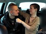 ScreenShot fake taxi driver in threesome with couple 3