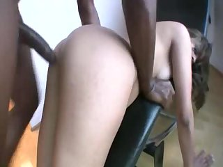 White cutie boned by massive black cock