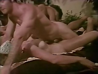 Hot vintage orgy with John Holmes