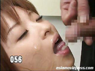 Schoolgirl bukkake