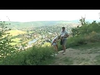 Extreme couple adores public sex