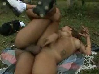 Outdoor sex on the grass