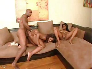 Ebony Threesome scene 1