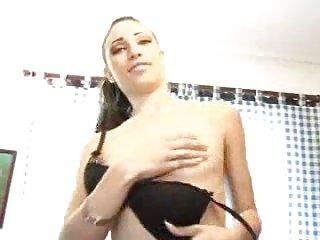 Slim brunette fucked by stud cock