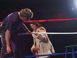 Interracial gang bang on the ring