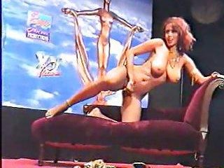 Erotic strip in the night club