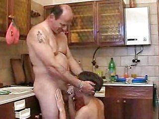 Mature dude bangs hairy pussy