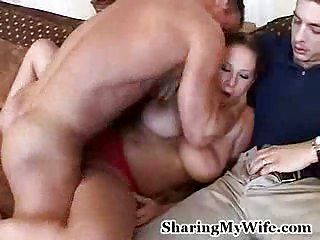One bitch shared between two dicks