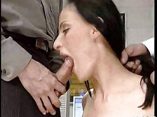 Deep Throats From Office Whore!