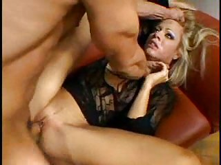 Blonde's anal hole is going to get cock food