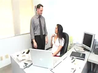 Office sex with impressive titty slut