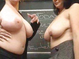 Chubby Student & Lesbian Teacher!