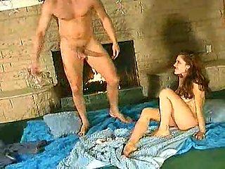 Hardcore with cum on slut belly