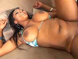 Huge nipples on chocolate tits
