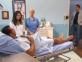 Hot 3-Way Fucking In The Hospital!