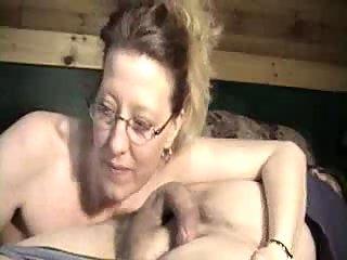 Sleeping cock in mature throat