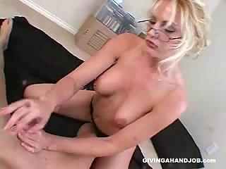 Perfect handjob for big dick