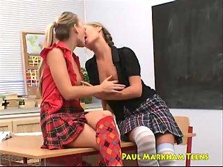 Teen lesbians enjoy their pussies