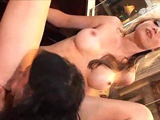 Titty blonde for horny erect dong