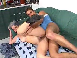 Anal fucked by hard dick granny