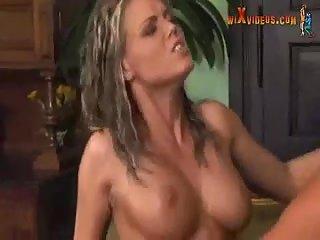 Double stuffed slut with big tits