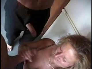 Dirty milf works at home