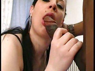 Big black dick penetrates in slut hole
