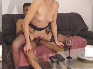 Threesome with blonde milf