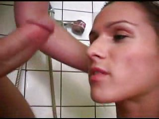 Hard sex with chick in bathroom