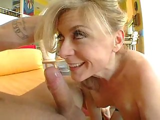 Horny mature burns with strong desire!