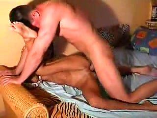 Massive dick in asian slut hole
