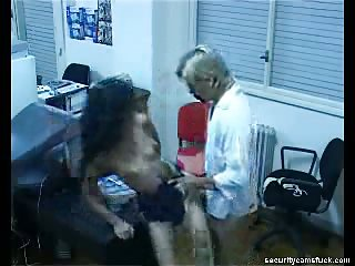 Office sex for hidden cam