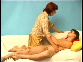 Redhead mom for lad satisfaction