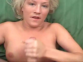 POV handjob with cum on tits