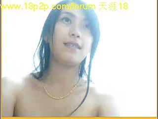 Nude Asian before webcam