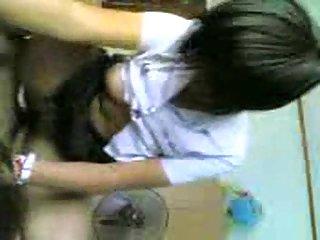 Asian teen in amateur CFNM fuck