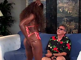 Interracial fuck with ebony whore
