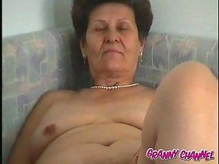Fat Granny Toying Her Twat
