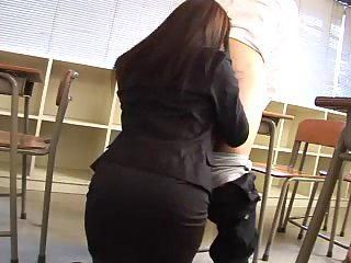 Japanese girl blowing cock in college