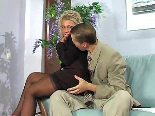 Sexy secretary analed in boss office
