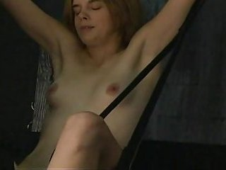 Real bdsm action for small tits slut