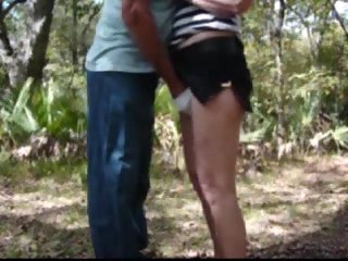 Wife gets fingered outdoor
