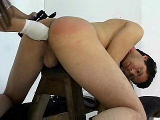 Lustful Nurse Shoves Long Strap-On In Guy Ass