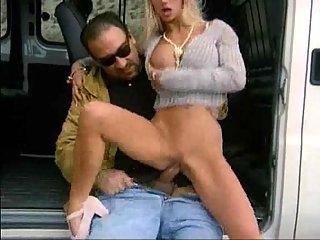 Lustful Car Driver Hammering Blonde Hoe
