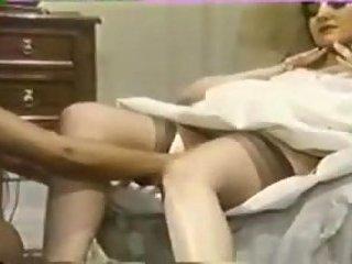 Vintage lesbian sex with a bride