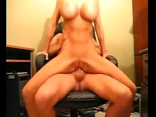 Titty blonde on the top of dude cock