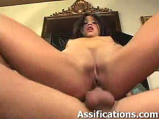 Hoe ass fisting before hard dick insertion