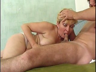 Blond mature loves anal fuck