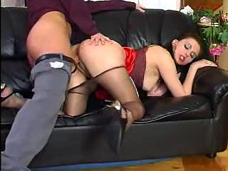 Guy punishes his maid with a fucking
